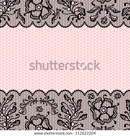 Vintage lace frame, ornamental flowers. Vector texture.