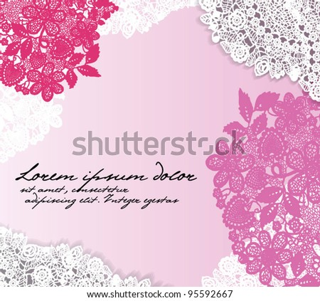 Vintage lace frame. Vector EPS 10 - stock vector