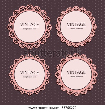 vintage lace frames. vector illustration