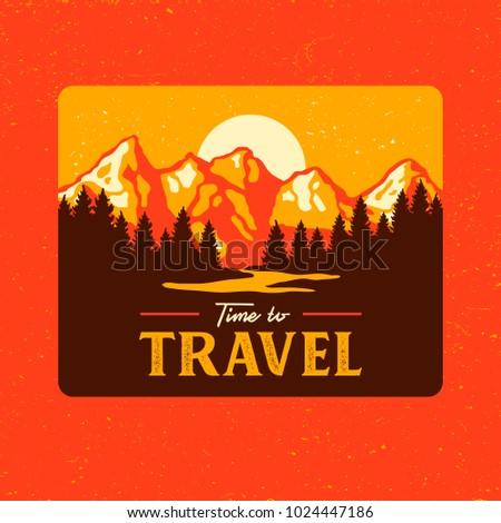 vintage landscape travel poster ...