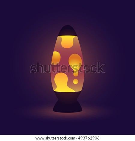 vintage lava lamp  realistic