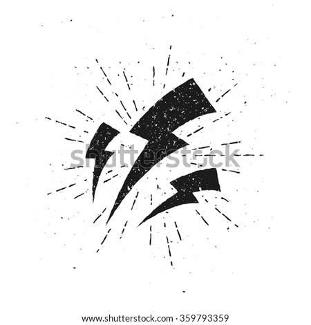 vintage lightnings illustration ...