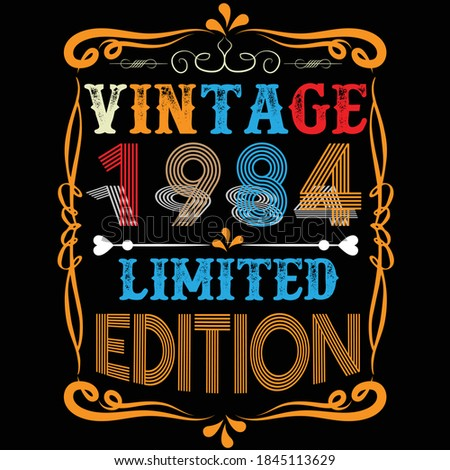 vintage 1984 limited edition t