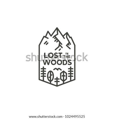 vintage linear travel badge