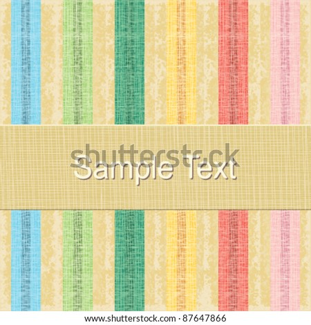 Vintage lined background in pastel colors