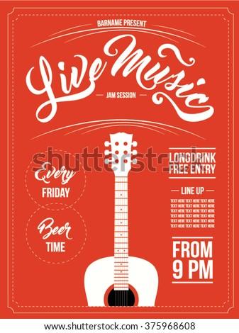 vintage live music poster