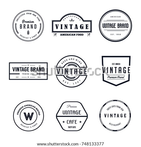 Vintage Logo Badge Vector Set