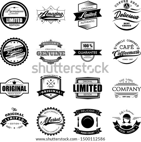 Vintage Logo Badges Vector Set Design