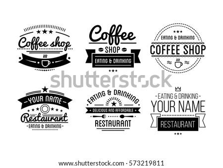 vintage logo coffee shop