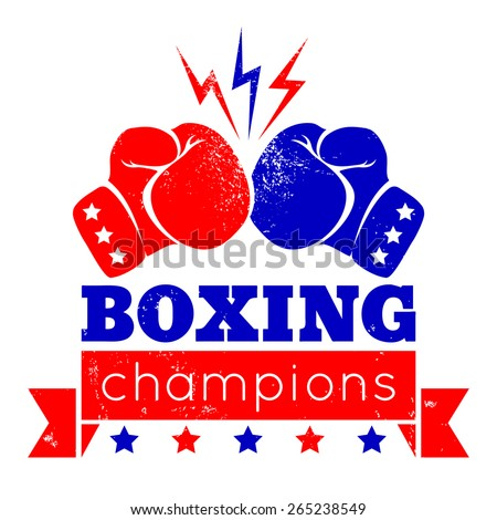 vintage logo for a boxing on