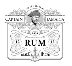 Vintage Logo for Rum Label