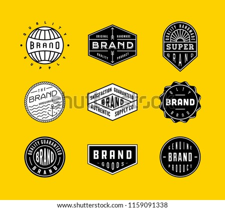 Vintage Logo, Insignia and Badges set 2. perfect for identity, logo, insignia or badge design with retro vintage looks. it is also good for print design such clothing line, merchandise etc.
