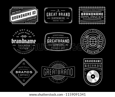 Vintage Logo, Insignia and Badges set. perfect for identity, logo, insignia or badge design with retro vintage looks. it is also good for print design such clothing line, merchandise etc.