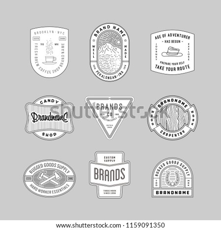 Vintage Logo, Insignia and Badges set 6. perfect for identity, logo, insignia or badge design with retro vintage looks. it is also good for print design such clothing line, merchandise etc.