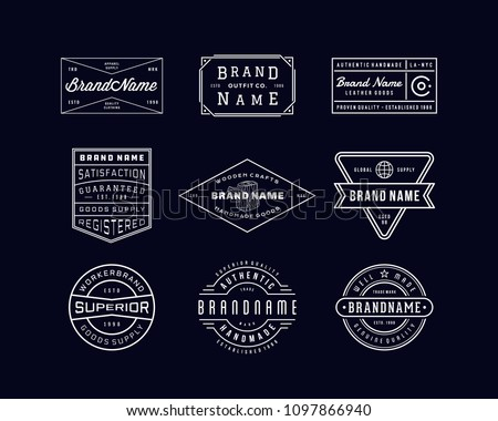 VINTAGE LOGO INSIGNIA & BADGE. perfect for identity, logo, insignia or badge design with retro vintage looks. it is also good for print design such clothing line, merchandise etc.
