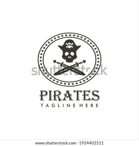 vintage logo of a pirate design