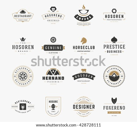 14 crest silhouettes for logo designs download free vector art vintage logos design templates set vector logotypes elements collection icons symbols retro labels wajeb Image collections