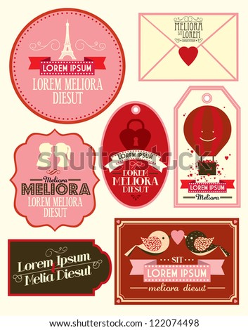 vintage love template vector illustration