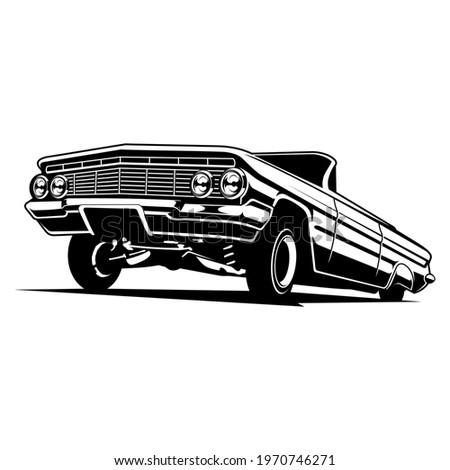 vintage lowrider car detailed