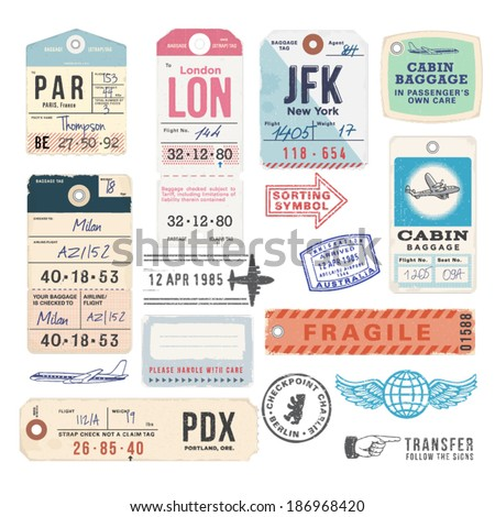 Vintage Luggage Tags