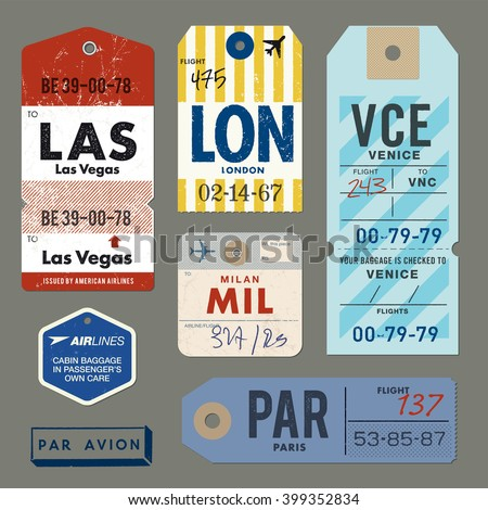 Vintage Luggage Tags