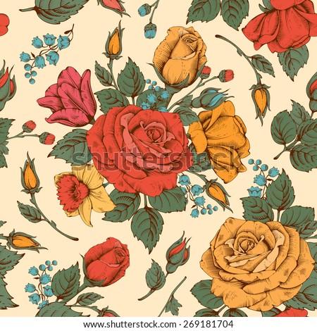 vintage luxury seamless pattern