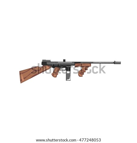 Stock Photo Vintage Machine Gun