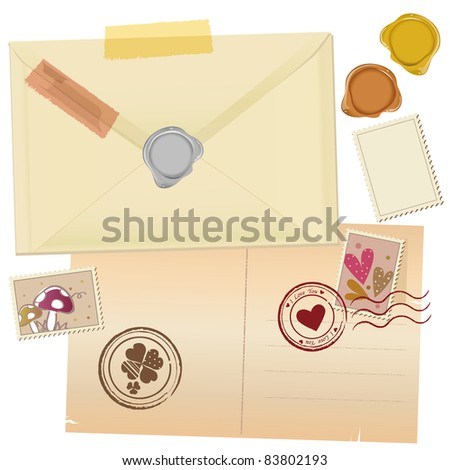 Vintage Mail Graphic