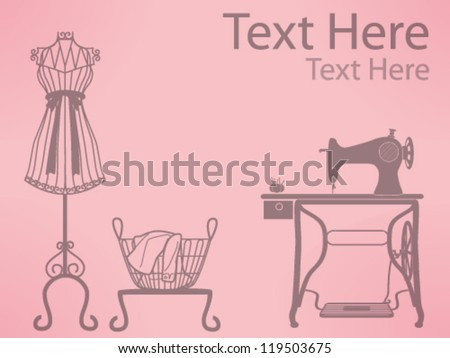 Free Vintage Sewing Machine Pattern Vector Download Free Vector