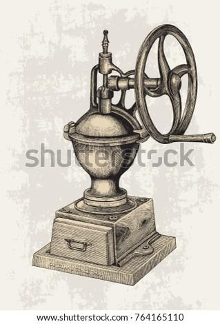 vintage manual coffee grinder