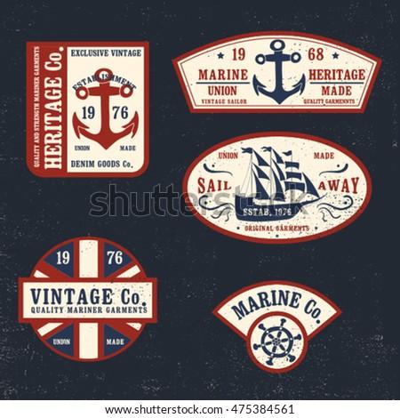 vintage marine style patch...