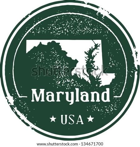 vintage maryland usa state stamp