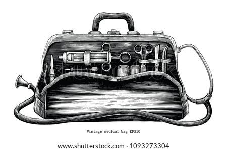 vintage medical bag hand...