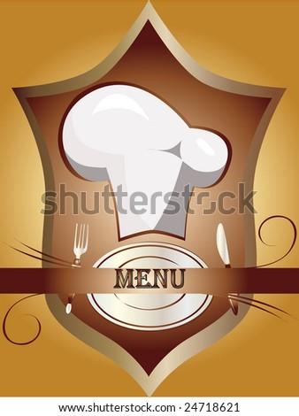 Vintage menu vector - stock vector