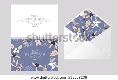 stock-vector-vintage-merry-christmas-and-happy-new-year-envelope-template-design-set-berries-sprigs-and-leaves