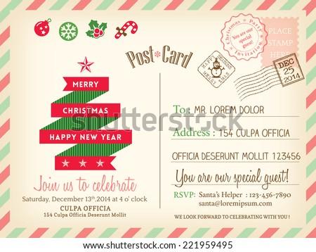 holiday postcard template