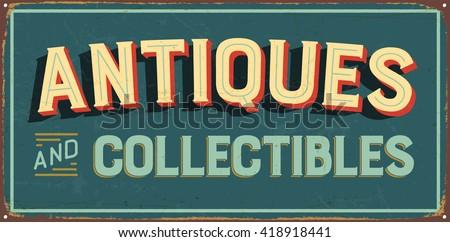 vintage metal sign   antiques...