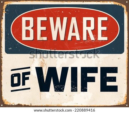 vintage metal sign   beware of