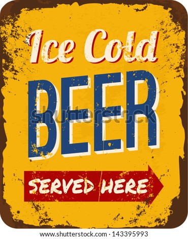 vintage metal sign 'ice cold