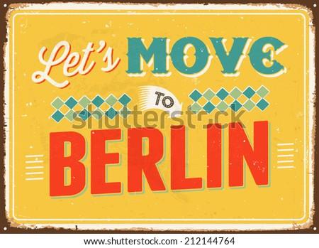 vintage metal sign   let's move