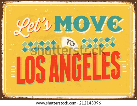 vintage metal sign   let's move ...