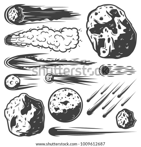vintage meteors collection with