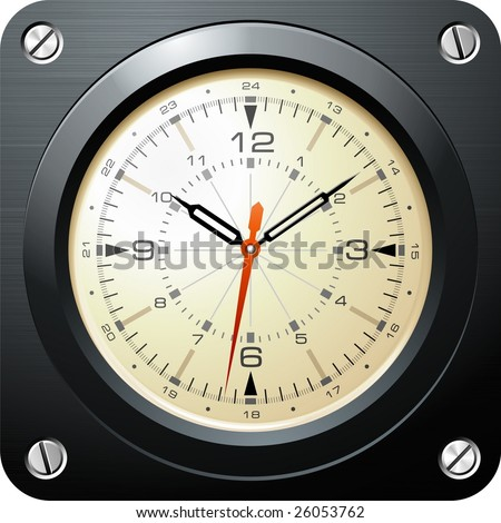 Vintage military airplane clock
