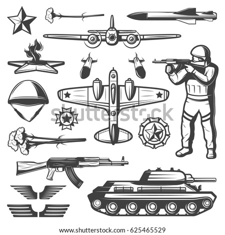 vintage military elements