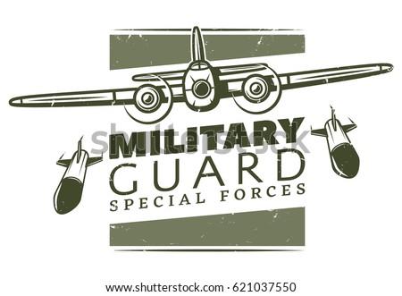 vintage military logotype