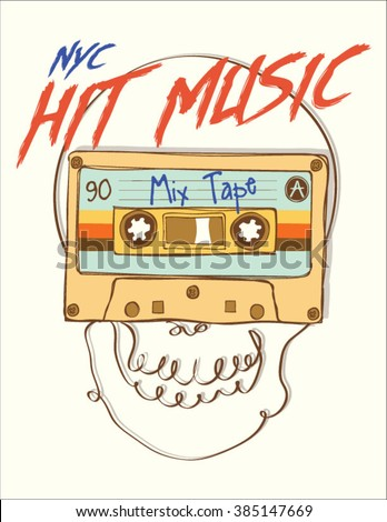 vintage mix tape hit music