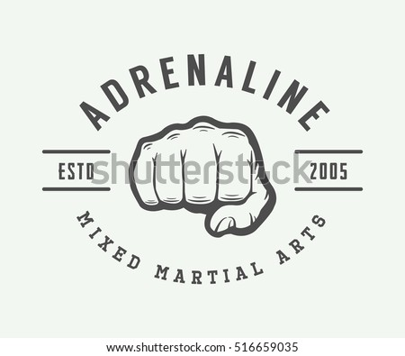 vintage mixed martial arts logo