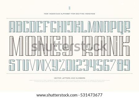 vintage money alphabet letters