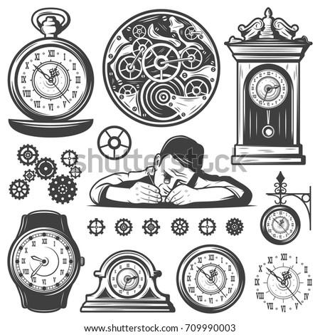 vintage monochrome clocks...