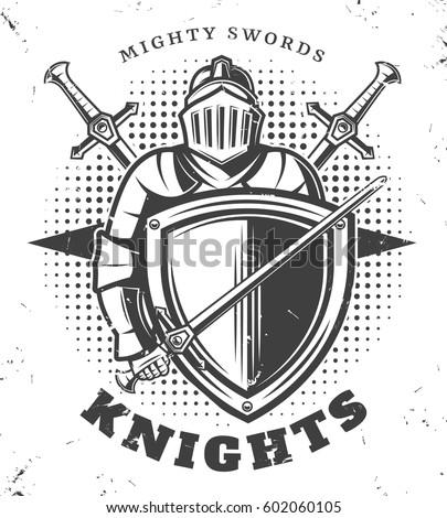 vintage monochrome knights...